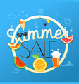 Summer sale season sale concept