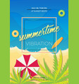 summertime poster vector image vector image