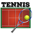 Tennis court and equipment vector image vector image