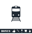 Train icon flat vector image vector image