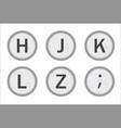 typewriter keys hjklz vector image