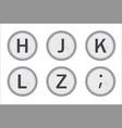 typewriter keys hjklz vector image vector image