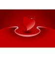 Valentine greeting card with heart vector image