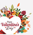 valentines day greeting card background template vector image vector image