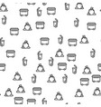 waste emission collection seamless pattern vector image vector image
