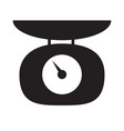 weighing scales icon on white background flat vector image vector image