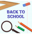 welcome back to school poster colorful pencils vector image vector image