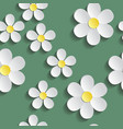 white chamomile pattern wrapping paper textile vector image vector image