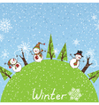 Winter square background vector image vector image