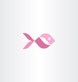 pink aquarium fish icon vector image