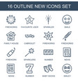 16 new icons vector image vector image