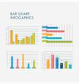 3d bar chart infographics elements set flat vector image vector image
