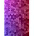 Abstract hexagonal tile mosaic background design vector image