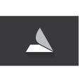 Alphabet letter A long shadow logo icon design vector image