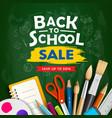 back to school supplies sale design vector image vector image