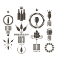 Beer Vintage Isolated labels and icons vector image