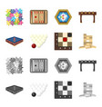 board game cartoonmonochrome icons in set vector image