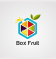 box fruit colorful logo icon element and vector image vector image