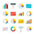 Business Analysis Graph and Chart Flat Objects Set vector image vector image