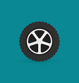 car wheel flat minimal icon vector image vector image