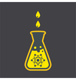 Chemical flask sign vector image vector image