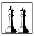 chess king and queen vector image