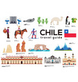 Chile travel guide template set chilean