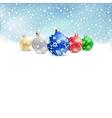 christmas bauble snow textarea vector image vector image