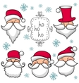 Christmas set with Santa Claus vector image vector image