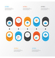 climate flat icons set collection of banner vector image vector image