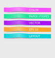 colorful paper cut lines stripes cover options vector image vector image