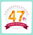 colorful polygonal anniversary logo 3 047 vector image vector image