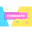 congrats in design banner template for web vector image vector image