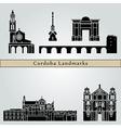 Cordoba landmarks and monuments vector image vector image