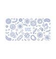coronavirus in uk concept blue linear vector image vector image