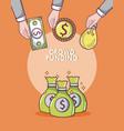 crowdfunding money business vector image vector image