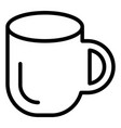 cup line icon mug isolated on vector image vector image