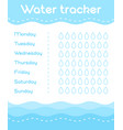 daily water tracker vector image vector image