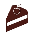 delicious sweet cake portion vector image vector image