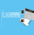 e-learning online education web banner vector image