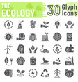 ecology glyph icon set green energy signs vector image vector image