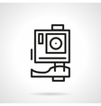 Extreme action camera simple line icon vector image vector image