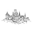 famous german castle landscape travel germany vector image vector image