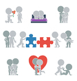 Flat people relationships vector image vector image