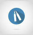 freediving flippers icon with shadow vector image vector image