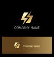gold bolt letter s gold logo vector image vector image