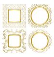 golden ornamental frames with gradient vector image