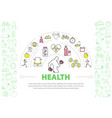 healthy lifestyle template vector image vector image