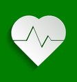 heartbeat sign paper whitish vector image vector image