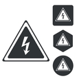 High voltage icon set monochrome vector image